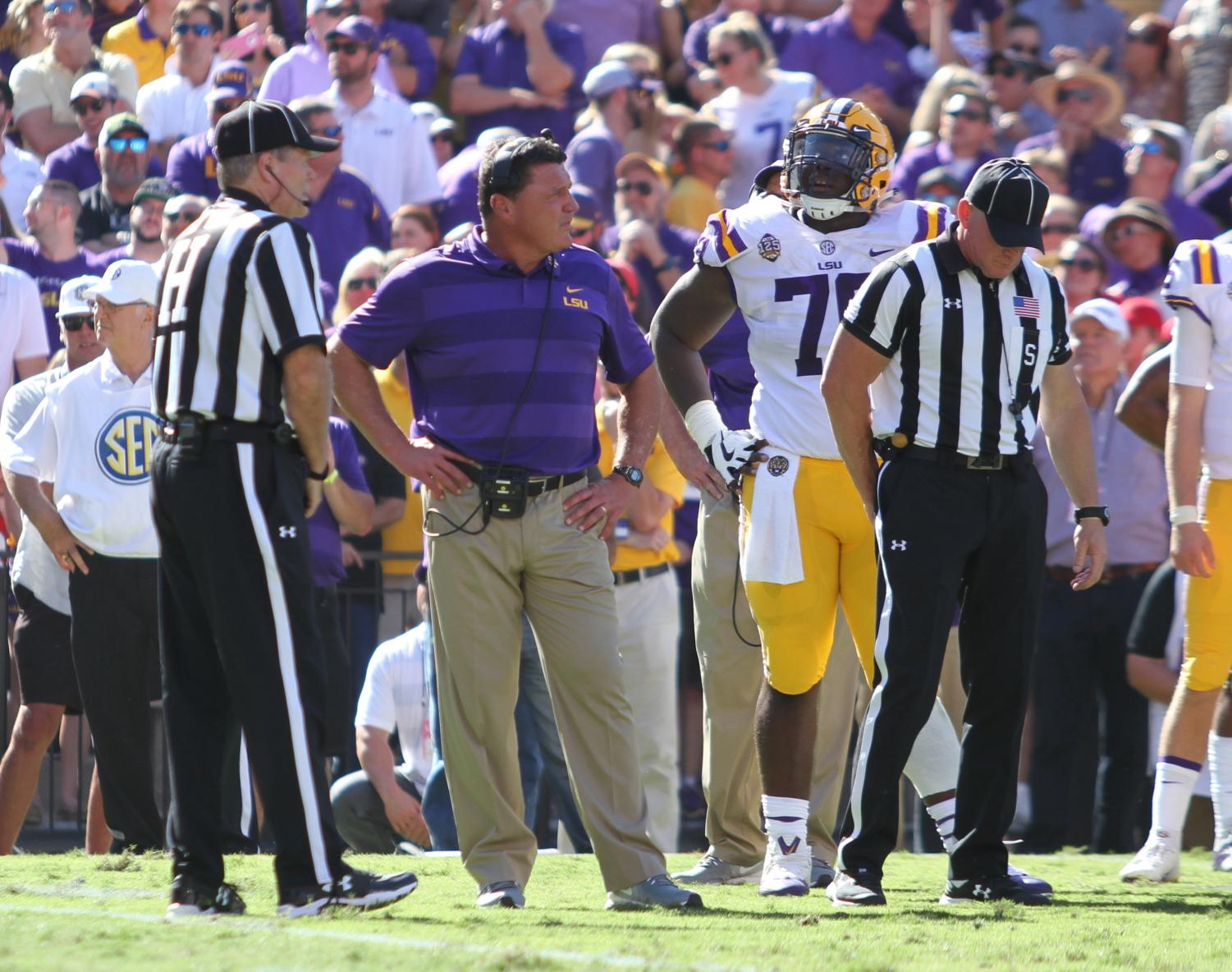 LSU is number one in the nation for the first time since 2011.