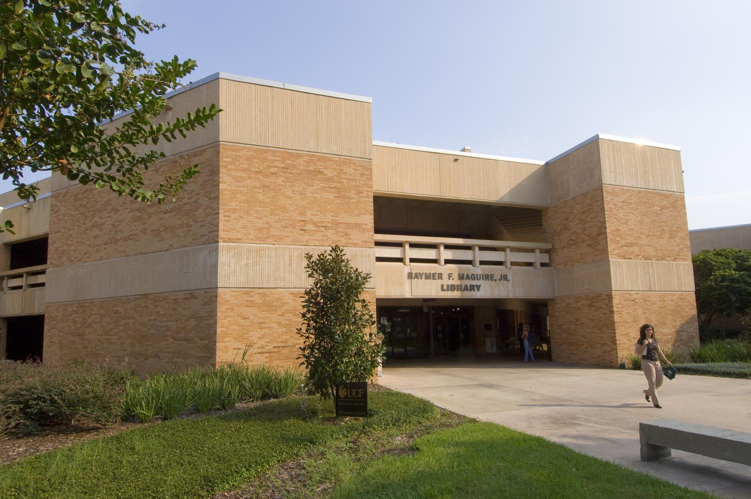 Valencia College West Campus' library, where Burke allegedly made threats to kill a woman.