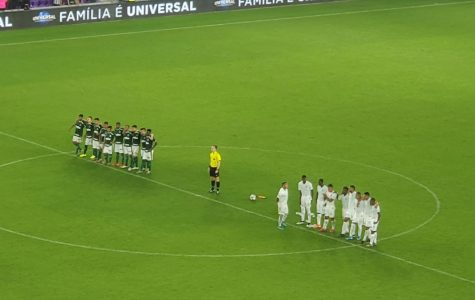Palmeiras and Atletico National before penalties.