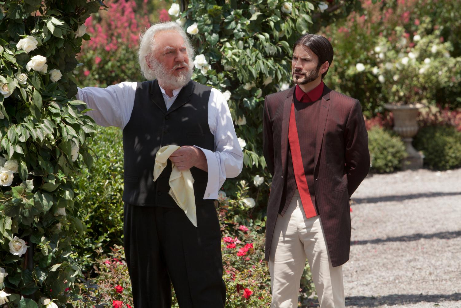 President Snow was portrayed by Donald Sutherland in 'The Hunger Games' film saga.