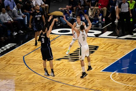 Nikola Vucevic had a double-double with 21 points and 14 rebounds. Photo by Joey Weierheiser.
