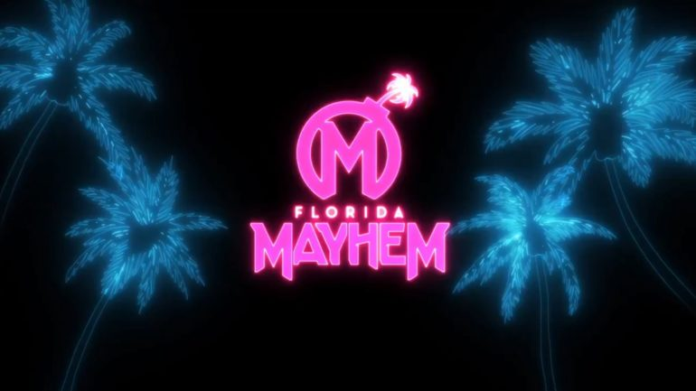 The+Mayhem%27s+new+color+scheme+going+into+the+OWL%27s+third+season.+Photo+from+Florida+Mayhem.