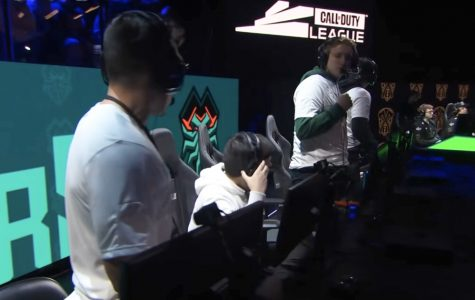 The Florida Mutineers after their reverse sweep against the Chicago Huntsmen on Feb. 23. Photo from Call of Duty League YouTube stream.