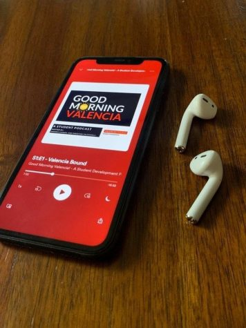 "The podcast, ""Good   Morning Valencia"" is streaming on this phone via Spotify"