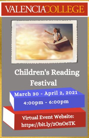 Valencia College Virtual Children's Reading Festival flyer.