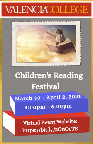 Valencia College Virtual Children's Reading Festival flyer.
