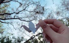 Origami bird made by international student Gaeun Lee
