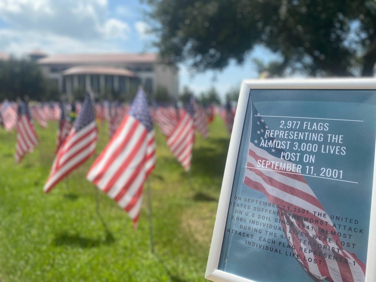 Flags fly across Valencia College campuses to commemorate the 20th anniversary of 9/11.